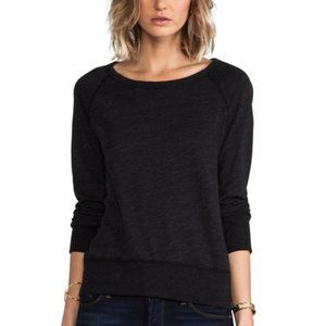 James Perse Dark Gray Basic Round-Neck Sweatshirt